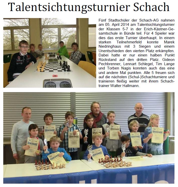Talentsichtung Schach
