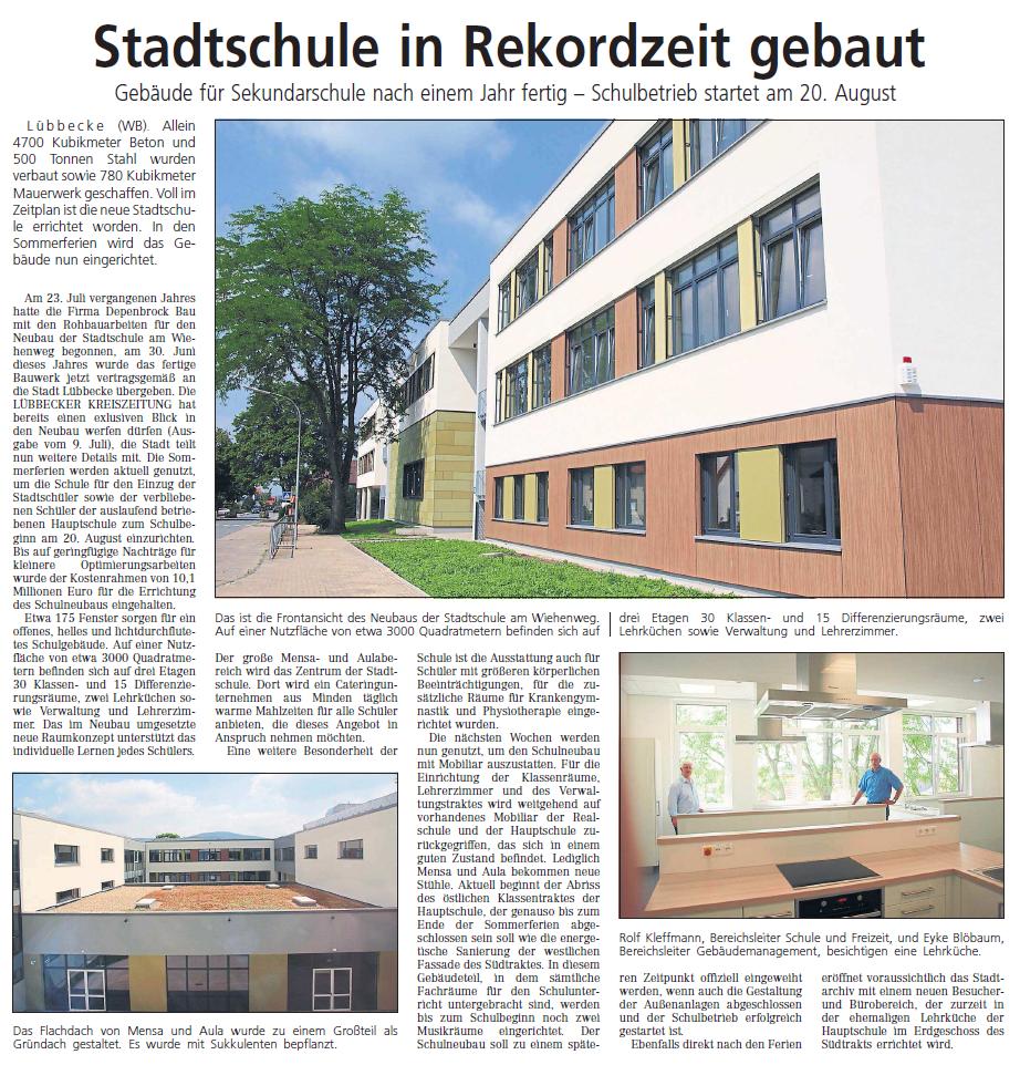 Stadtschule in Rekordzeit gebaut